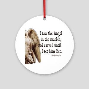 Michelangelo Angel Ornament (Round)