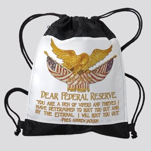 Dear Federal Reserve Drawstring Bag