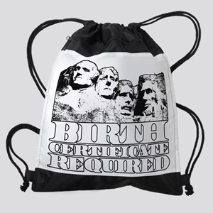 Birth Certificate Required light le Drawstring Bag