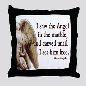 Michelangelo Angel Throw Pillow