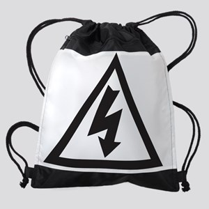 DangerElectricShockRisk1 Drawstring Bag