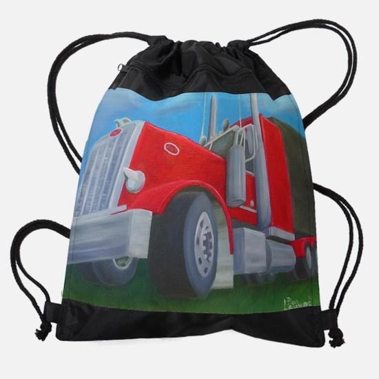 Big Red Drawstring Bag