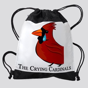 crying cardinal1 Drawstring Bag