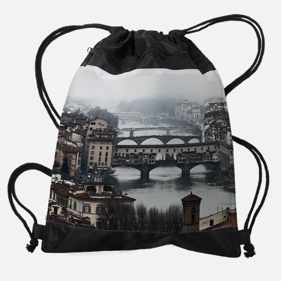 Bridges of Florence Italy.jpg Drawstring Bag
