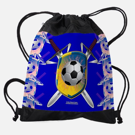 Swedish Soccer Shield Drawstring Bag