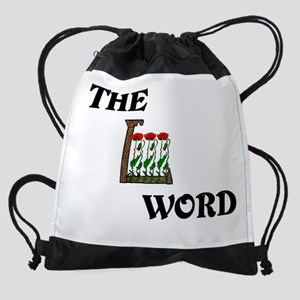 4-L word Poppies SCALED LARGER Drawstring Bag