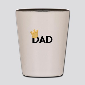 Dad with Crown Shot Glass