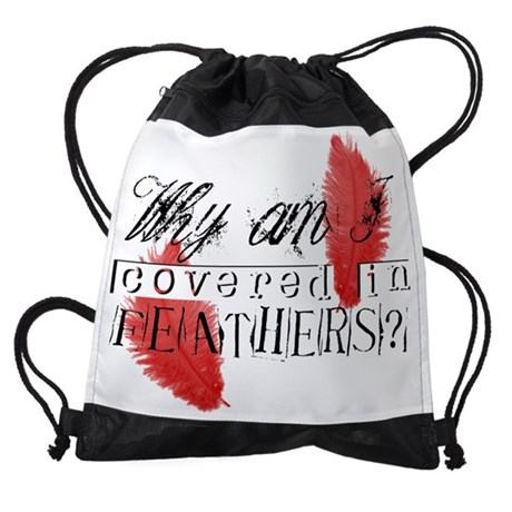 FEATHERS2 DRAWSTRING BAG