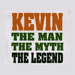Kevin The Legend Throw Blanket