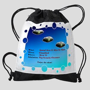 MouseArea 51 card text Drawstring Bag