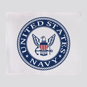US Navy Symbol Throw Blanket