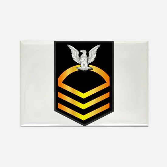 Navy - CPO - Rank - Gold Rectangle Magnet (10 pack