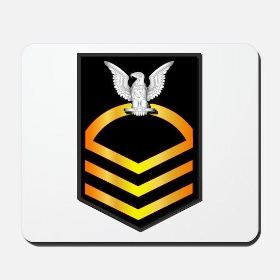 Navy - CPO - Rank - Gold Mousepad