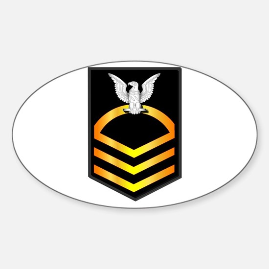 Navy - CPO - Rank - Gold Sticker (Oval)