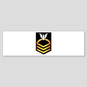 Navy - CPO - Rank - Gold Sticker (Bumper)