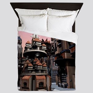 Futuristic City Queen Duvet