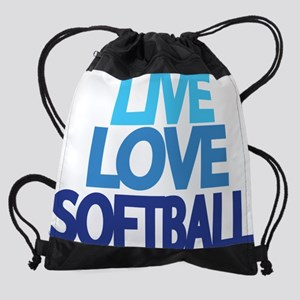 live-love-softball Drawstring Bag