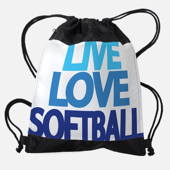live-love-softball.png Drawstring Bag