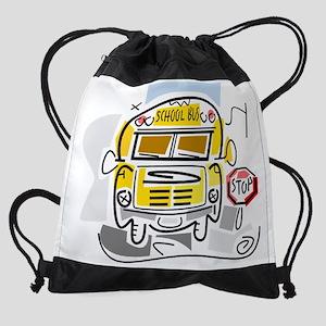 j0410911_school bus Drawstring Bag