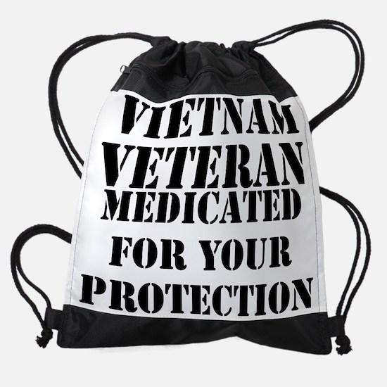 Vietnam Veteran Medicated For Your  Drawstring Bag