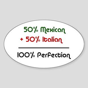 Italian & Mexican heritage Oval Sticker