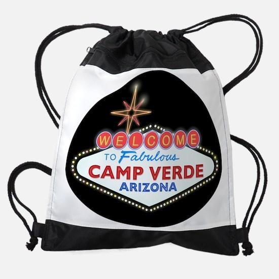 WELCOME TO CAMP VERDE LIGHT.png Drawstring Bag