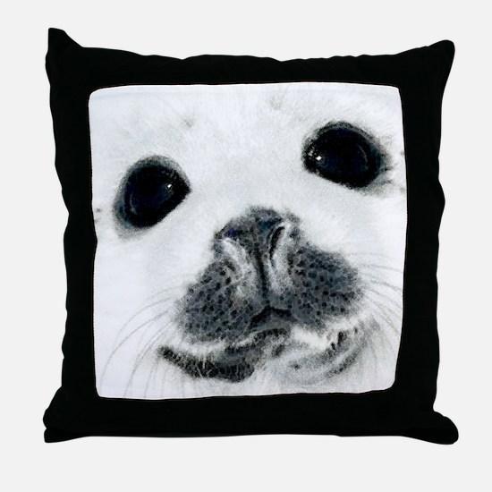 Harp Seal 3 Throw Pillow