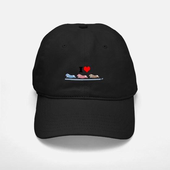 Running corgis with leashes Baseball Hat