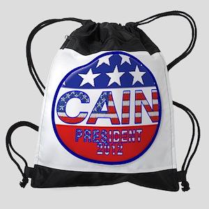 cain button1 Drawstring Bag
