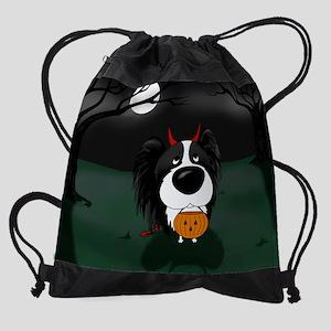 BlkPapillonOct Drawstring Bag
