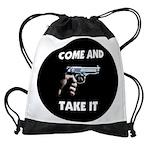 pistol 2.jpg Drawstring Bag