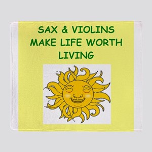 sax and violins Throw Blanket