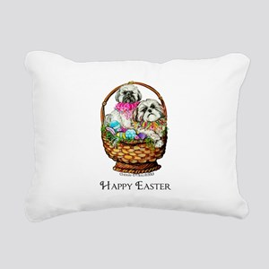 Shih Tzu Easter! Rectangular Canvas Pillow