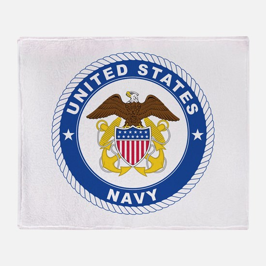 American Navy Symbol Throw Blanket