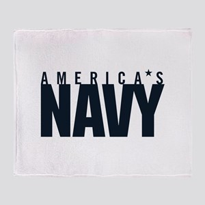America's Navy Emblem Throw Blanket