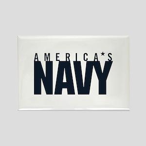 America's Navy Emblem Rectangle Magnet