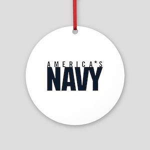 America's Navy Emblem Round Ornament