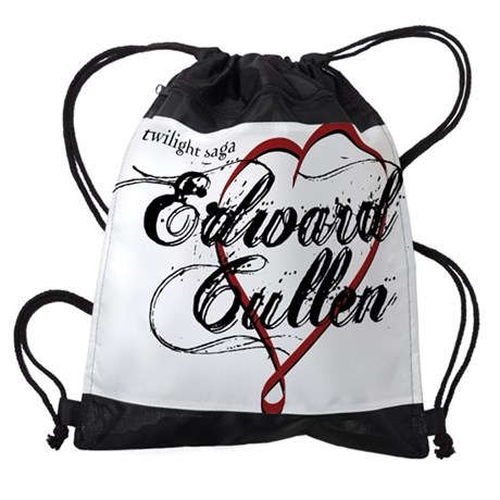 EDWARDCULLENRIBBONHEART DRAWSTRING BAG