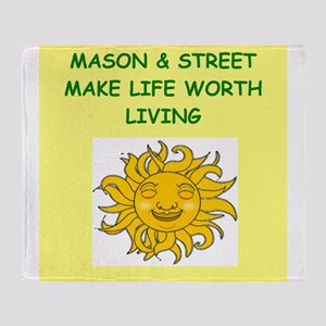 MASON and street Throw Blanket