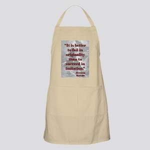 It Is Better To Fail - Melville Light Apron