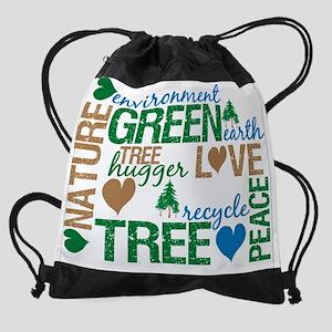 green montage.png Drawstring Bag