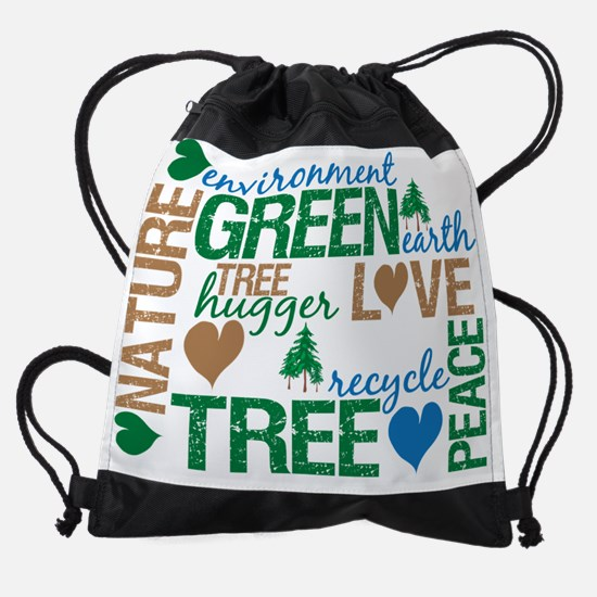 green montage.png Drawstring Bag