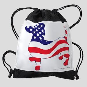 Patriotic Dachshund USA Drawstring Bag