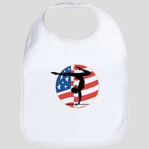 USA Stars and Stripes Gymnastics Design Bib
