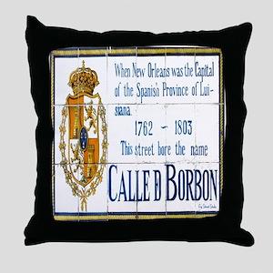 Rue Bourbon Tiles Throw Pillow