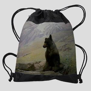 Alaskan Bear Cub Drawstring Bag