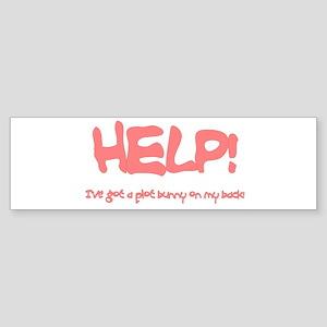 Writer's Pink Plot Bunny Bumper Sticker