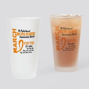 MS Month For Me Drinking Glass