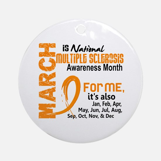 MS Month For Me Ornament (Round)