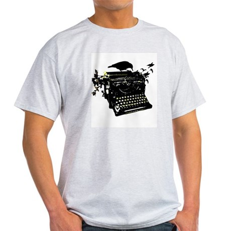 Typewriter Ash Grey T-Shirt